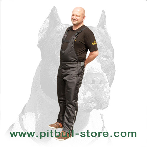 Nylon scratch pants for Pitbull training, easy to     care for
