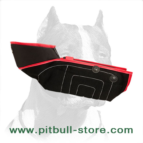 Professional Pitbull training protective sleeve with adjustable strap in the elbow zone