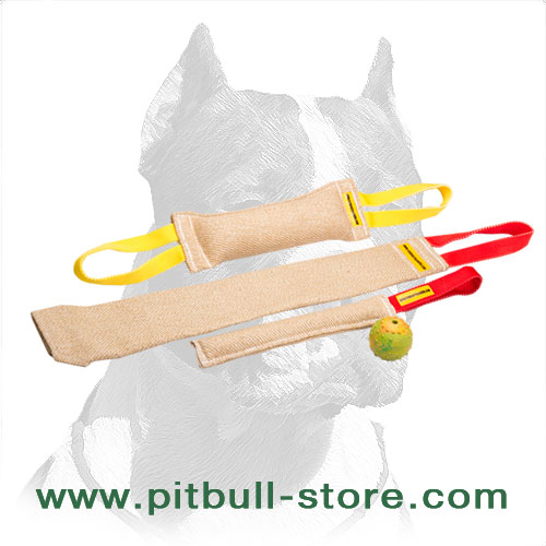 3 jute tugs for Pitbull bite training