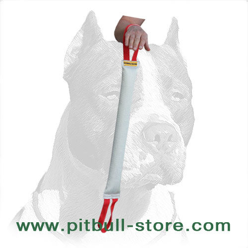 Pitbull bite training tug, extra long-servicing