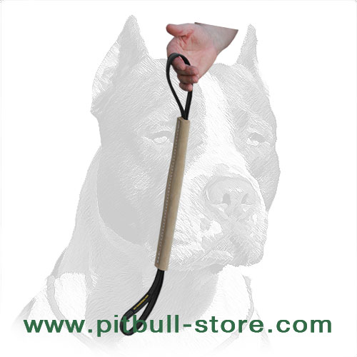 Two-handled dog training bite tug