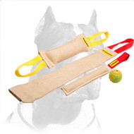 Pitbull Set of Strong Jute Training Tugs + Free Dog Rubber Ball