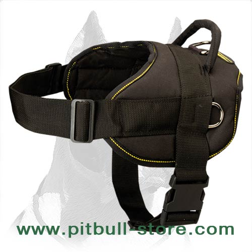 Pitbull nylon harness for professional training