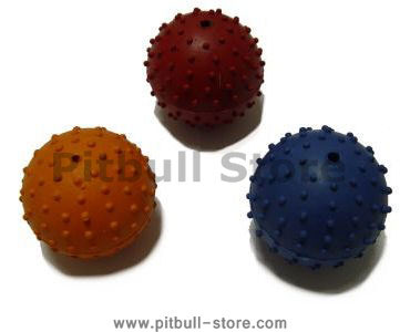 Rubber Squeaky Ball Dog Toy 2 3/8''(6cm)-Pitbull Dog Toys