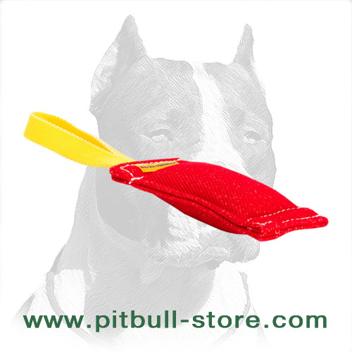Pitbull Dog Training Bite Tug with Reliable Handle