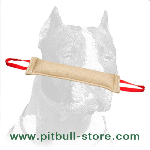 Pitbull Training Jute Tug for Developing Biting Skills
