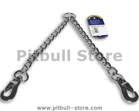 Coupler Chain leash  24 inch for walking two dogs-dog leash coupler