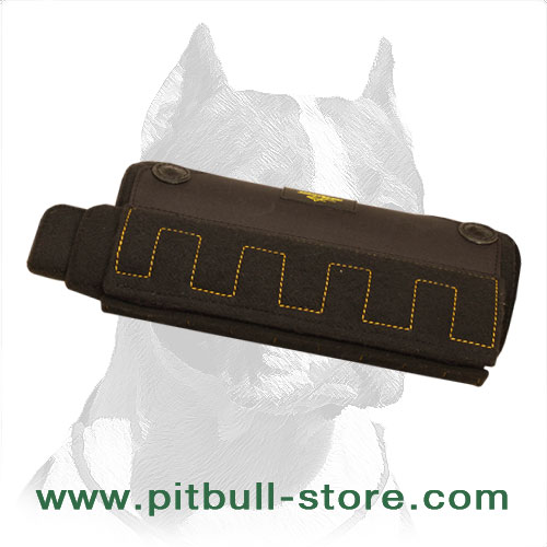 Young Pitbull Dog Sleeve with Plastic Barrel
