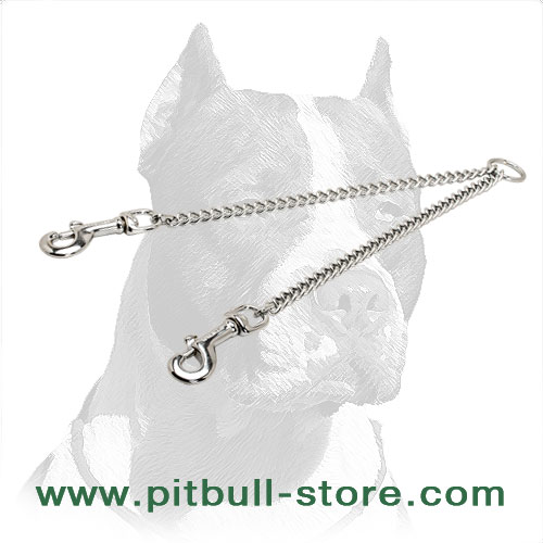 Chrome-Plated Pitbull Dog Coupler
