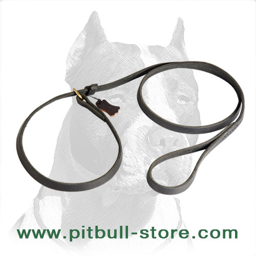 Amazing Combo Pitbull Dog Leash / Choke Collar Made of Genuine Leather