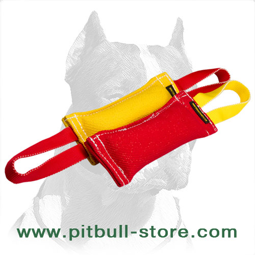 Pitbull Set of French Linen Training Tugs