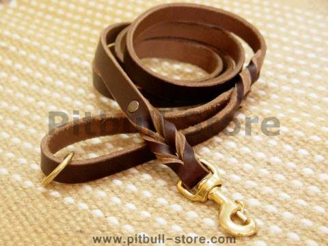 Handcrafted leather dog leash for walking and tracking- 2-6 foot