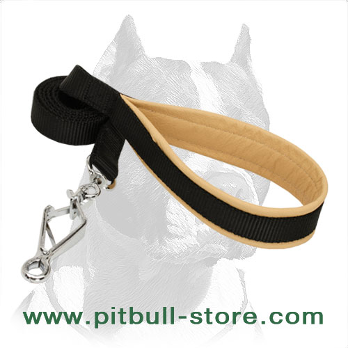 Soft Touch Pitbull Dog Leash of Nylon with HS Snap Hook