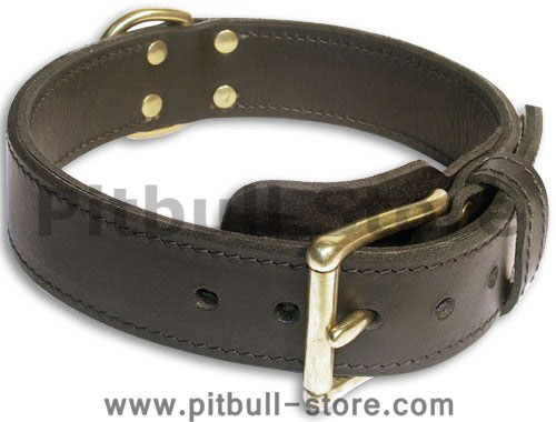 Dog Black collar 27'' for PITBULL /27 inch dog collar-c33nh