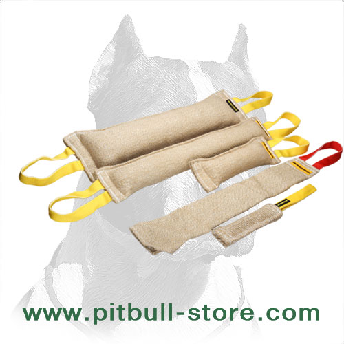 Pitbull Training Bite Set of Jute Tugs