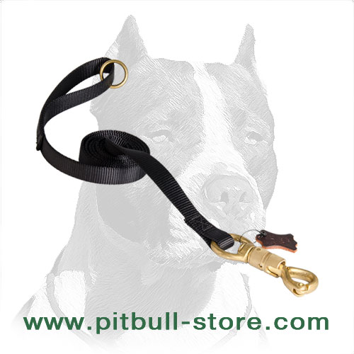 Reliable dog leash for Pitbull breed training