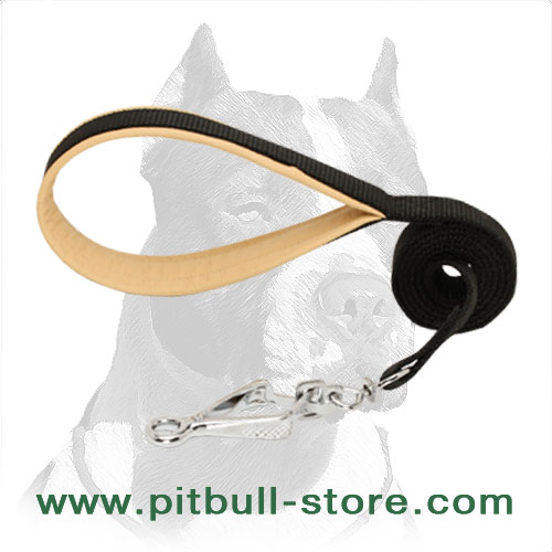 Pitbull dog leash best for patrolling
