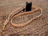 Leather dog leash multi functional- 3/4 inch on 7 foot dog leash