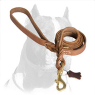 New Designer Pitbull Dog Leash of Full-Grain Leather