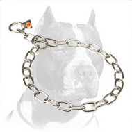'Excellent Control' Pitbull Stainless Steel Dog Collar