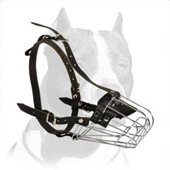 Free breathing Pitbull muzzle