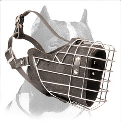 Muzzle leather for Pitbull superior air ventilation