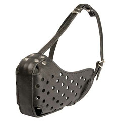 Strong leather muzzle well ventilated