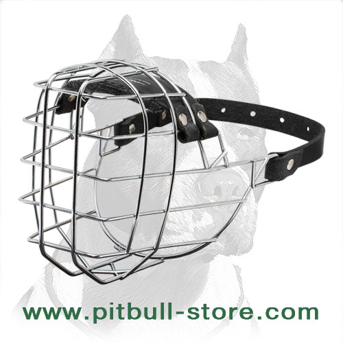 Wire Cage dog muzzle for Pitbulls