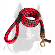 Cord-Looking Nylon Pitbull Dog Leash for Different Activities