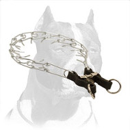 Chromium Plated Pitbull Dog Pinch Collar