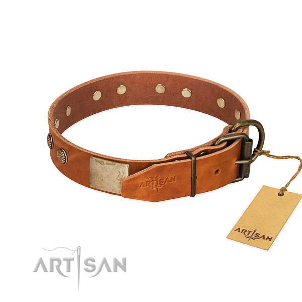 Rust-proof hardware on easy wearing dog collar