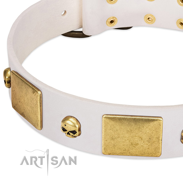 Best quality full grain natural leather collar created for your doggie