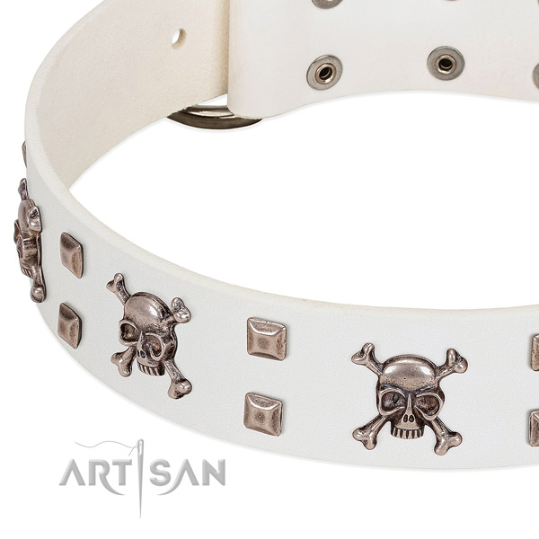 Stylish design leather collar for your pet