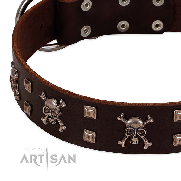 Easy to adjust collar of full grain leather for your attractive pet