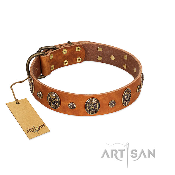 Top notch full grain leather collar for your pet