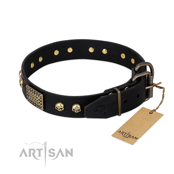 Rust-proof hardware on comfy wearing dog collar