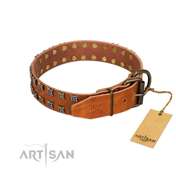 High quality leather dog collar crafted for your dog