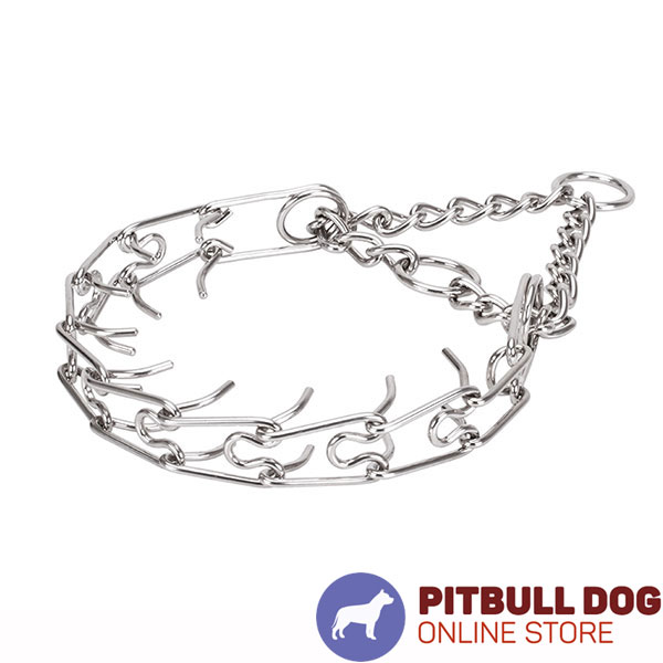 Medium pets prong collar with stainless steel removable links