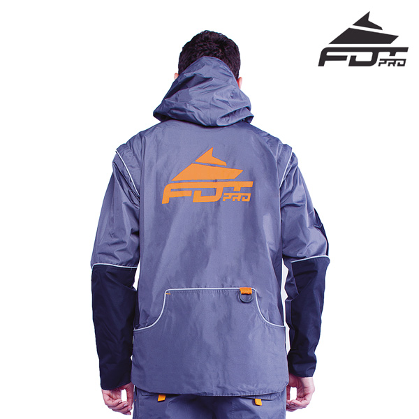 FDT Pro Dog Tracking Jacket of Grey Color with Reliable Side Pockets