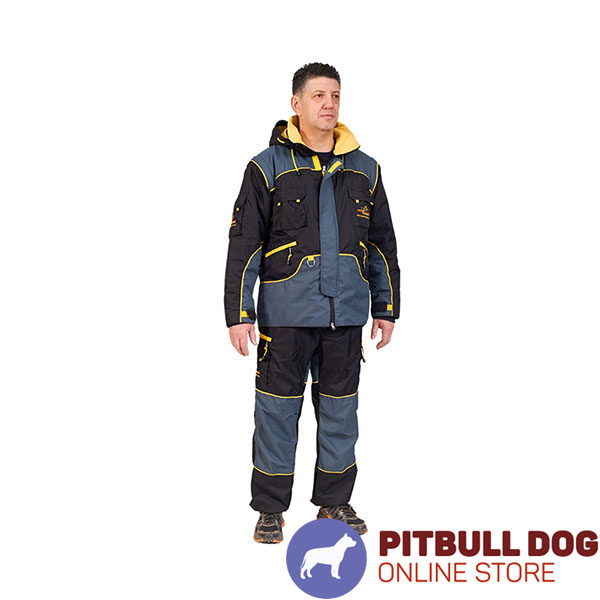 Water Resistant Dog Bite Protection Suit of Membrane Fabric for Comfy Workout