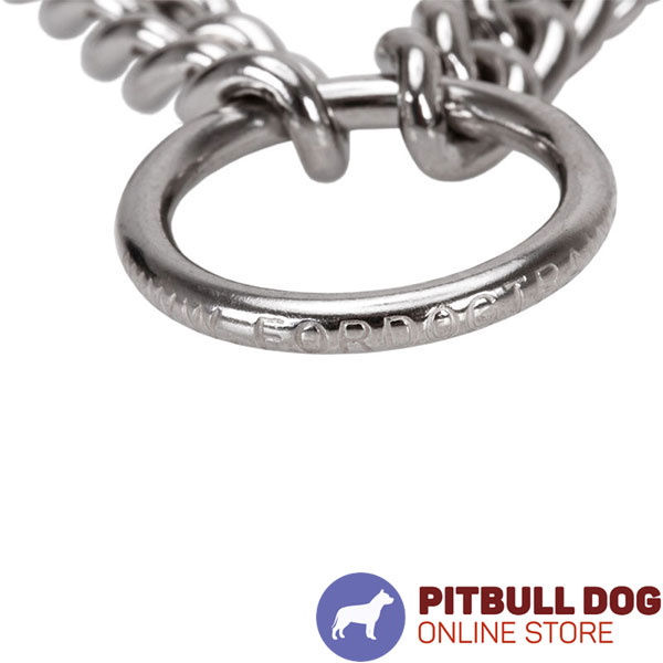 Premium-quality chrome plated prong collar for disobedient dogs