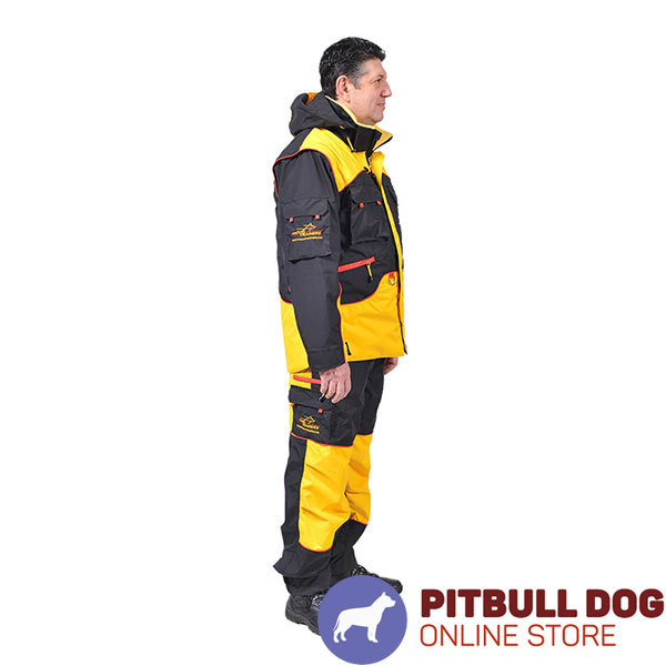 Handy Training Suit with a Number of Pockets