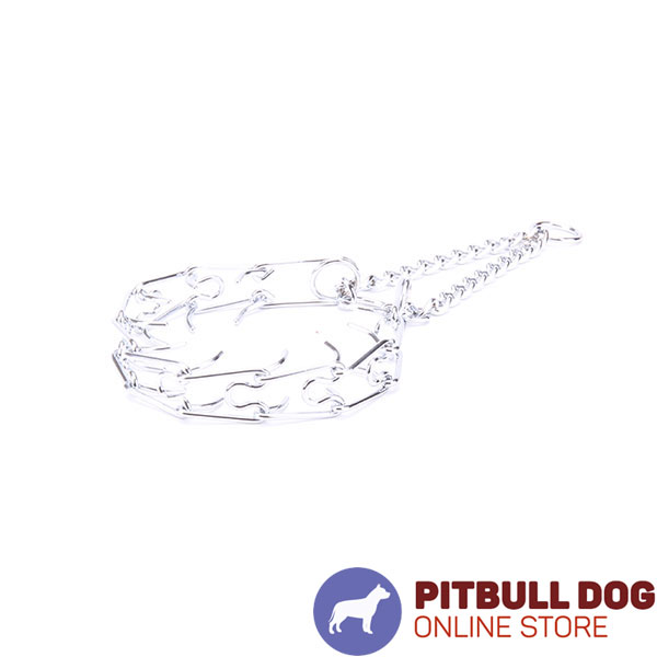 Best quality chrome plated dog pinch collar for training