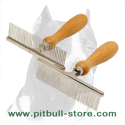 Metal Pitbull grooming combs
