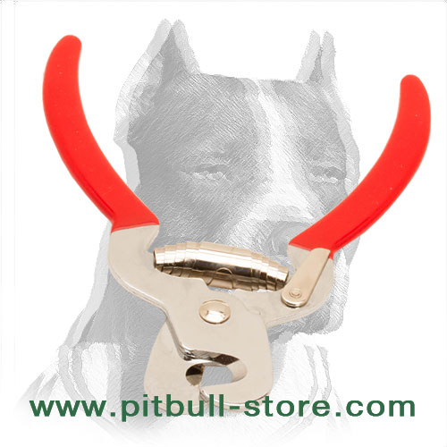 Pitbull grooming steel trimmer for safe claws clipping