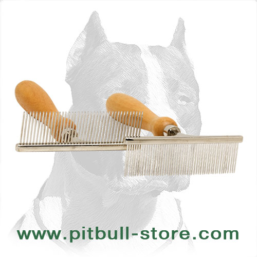 Pitbull grooming steel brushes with various quantity of pins