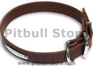 Leather Brown collar 27'' for PITBULL /27 inch dog collar-C456