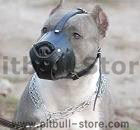 Pitbull Dog Muzzle,wire basket dog muzzle