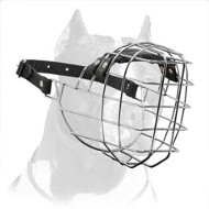 Wide Wire Basket Pitbull Dog Muzzle
