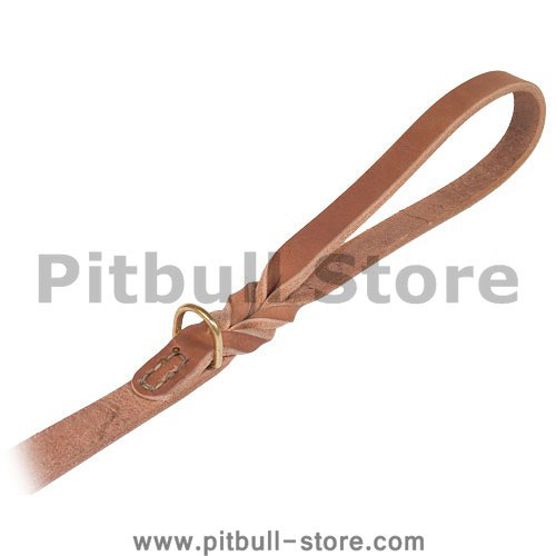 Latigo Leather Braided Handle Classic Waist 6ft Leash Pitbull